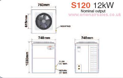 Trianco Activair Air Source Heat Pump S120 12 Kw 41000 Btu
